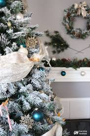 Flocking Powder For Christmas Trees by How To Flock A Christmas Tree Via Oh Everything Handmade Llc