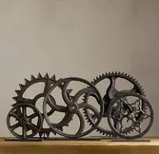 Urban Industrial Loft Steampunk Decor Rusty Gears Cogs 3D Wall Art