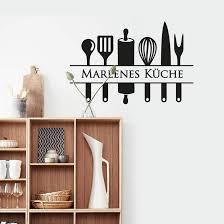 wandtattoo name küche