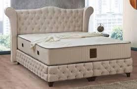casa padrino barock doppelbett beige schwarz edles samt bett mit matratze schlafzimmer möbel im barockstil