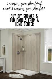 Bathtub Wall Liners Home Depot by 5 Reasons You Shouldn U0027t Buy Diy Shower Tub Wall Panels At A Home