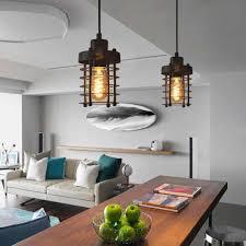 großhandel vintage industrial deckenleuchten einzelne kopf eisen käfig design pendelleuchte küchenbar wohnzimmer hängendes licht home beleuchtung