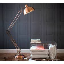 Curved Floor Lamps Uk by Copper Angled Floor Lamp Floor Lamp