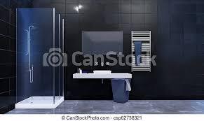 modernes badezimmer mit dusche und fliesenwand modernes