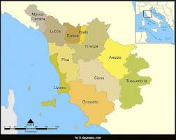 Central Map Of Tuscany