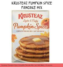 Krusteaz Pumpkin Pancakes by Ten Products For People Who Love Pumpkin Spice Part 1