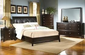 Black Leather Headboard Bed by Bedroom Excellent Leather Bed Furniture For The Seeker Pleasure