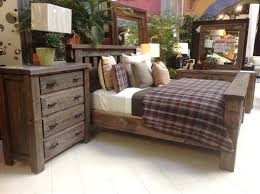Gallery Furniture Bedroom Sets From A Rustic Style With Beautiful Raw Looking Wood Treatment