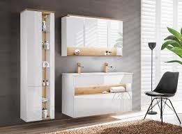 badmöbelset hängend bahama white 120 cm alpinweiß waschbecken spiegelschrank led