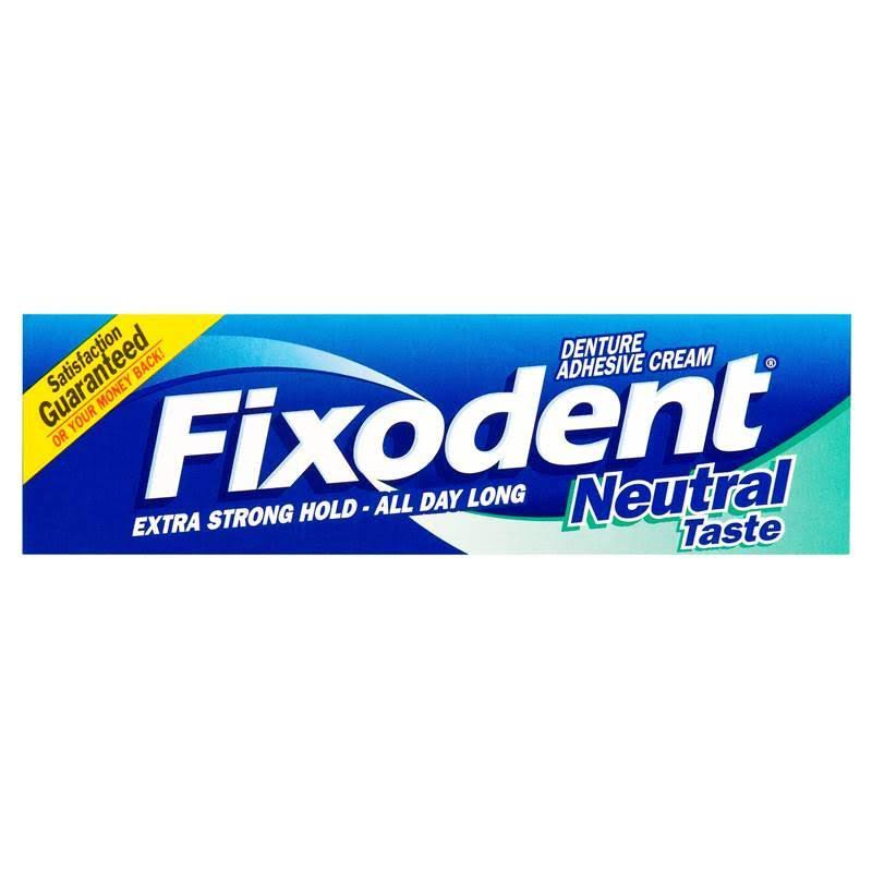 Fixodent Complete Denture Adhesive Cream - Neutral, 47ml