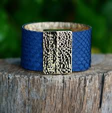 Attraction Navy With Gold Rustic Cuff