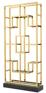 casa padrino luxus wohnzimmer regalschrank gold schwarz 108 x 29 x h 240 cm luxus möbel