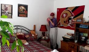 San Francisco 49ers Football Bedspread Man Mannequin Stand Bedroom Phoenix Arizona Home House For Sale Photo