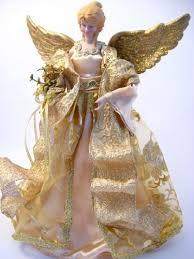Black Angel Christmas Tree Topper Uk by Blonde Angel Tree Topper Table Red Dress Christmas Victorian Nos