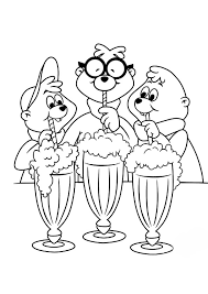 Alvin And The Chipmunks Coloring Pages Free To Print