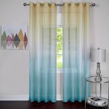 Sears Canada Sheer Curtains by Sheer Curtains Window Treatment Kmart Com Lola Aqua Blue Pair Idolza