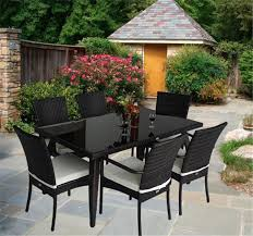 Patio 6 Chair Set Person Table Dimensions A Glass Board With