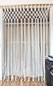 Cotton Macrame Rope Door Curtains Buy Macrame Curtain Hanging