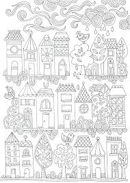 Free Coloring Pages Adults Animals Colouring Poster Tiny Town Adult Pageskids Printable Christmas