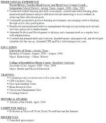 Football Coach Resume Sample Baseball Template Head Samples Examples Scout