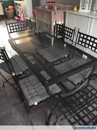 table et chaise fer forgé a vendre 2ememain be
