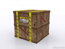 How To Model A Shipping Crate Final Image