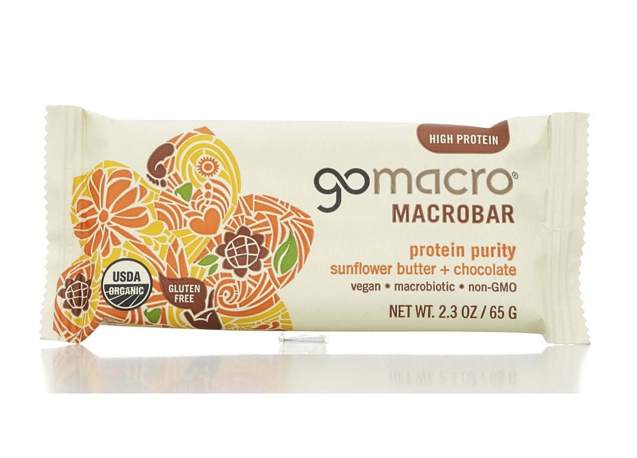Gomacro Protein Purity Macrobar - Sunflower Butter & Chocolate, 65g