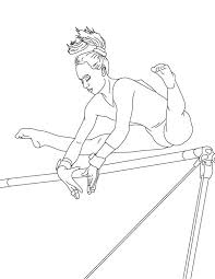 Gymnastic Perfect Score Of High Bar In Coloring Page