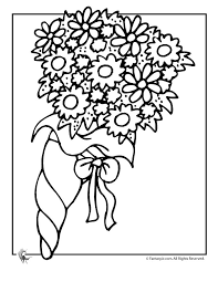 Wedding Coloring Pages Flowers Page Fantasy Jr