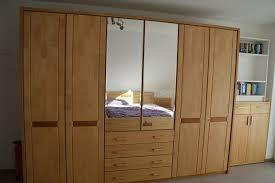 tolles schlafzimmer schrank und bett 180 x 200 cm erle teilmass