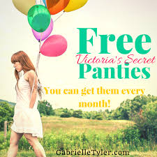 New Victorias Secret Halloween Panties by Get Free Panties At Victoria U0027s Secret Every Month Gabrielle Tyler