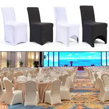 50/100 White/Black Spandex Fitted Folding Chair Covers For Wedding Party  Banquet   EBay Plastic Folding Chair Covers 20 Pc White Spandex Stretch Arched Front Wedding Wiring Diagram Database Black Cover Perfect Woven Set With Cart See Products From Linens Personalized Bean Details About Polyester Or Ivory Reception Premium Efavormart Efavormart 5pcs Linen Dning Slipcover For Party Event Banquet Catering 100x Style