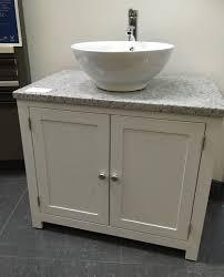 Distressed Bathroom Vanity Uk by White Granite Top Painted Vanity Unit 800mm Wide Bathroom Wash
