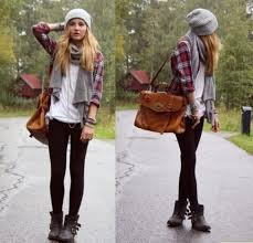 Bag Bad Flannel Shoes Boots Cute Winter Outfits Hat Brown Leather Women Shoulder Bags