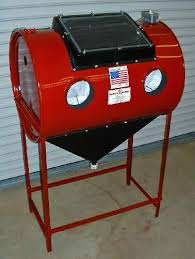 Bead Blast Cabinet Vacuum by The Barrel Blaster Great Design On This Blasting Cabinet Garage