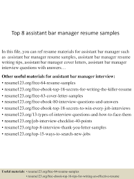 Top 8 Assistant Bar Manager Resume Samples Sales Manager Job Description For Resume Operations Examples 2019 Best Restaurant Assistant Example Livecareer General Luxury Bar Security Intern Sample 20 Plus Kenyafuntripcom Hospality Complete Guide Tips Cv Crossword Mplate Example Hotel General Retail Store Beautiful Business Lan N Bank Branch Plan Template New Samples And Templates Visualcv Bar Manager Duties Jasonkellyphotoco