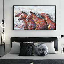 100 Pop Art Home Decor US 447 35 OFFAbstract Running Horse Wall Canvas Prints Modern Animals Wall Paintings Print On Canvas Pictures Cuadrosin