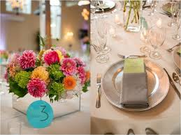 Blue Table Number Centerpiece Ideas Pink Green Yellow Orange