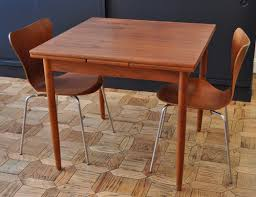 Artistic Danish Teak Dining Table In Just Expanding Leaf A Modern Guy