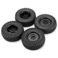 100 Truck Rims 4x4 4pcs HG P408 110 US4X4 Military Vehicle RC Car Spare Parts Tires Wheels Black