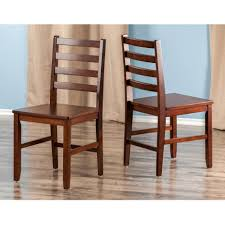 Press Back Chairs Oak by Amazon Com Winsome Wood Hamilton Piece Ladder Back Chair Chairs