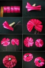 Make Silk Satin Or Ribbon Roses