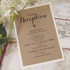 Delicate Flower Rustic Wedding Evening Invitation