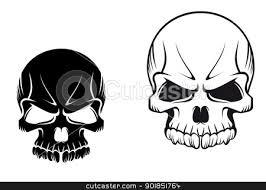 Black And White Skull Tattoo Designs