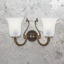 two light antique brass wall sconce cl 33530 e2 contract