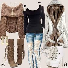 Date Night Outfits For Winter Paired With Awesome Footwear