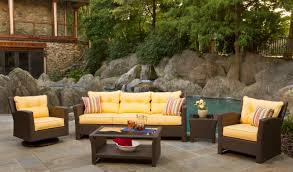 Sears Patio Furniture Monterey by Patio Wicker Outdoor Patio Furniture Yellow Rectangle Modern