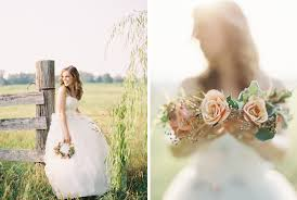 Rustic Chic Bridal Portraits With Flower Crown Laura Gordon Photography