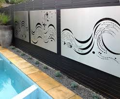 Stainless Steel Wall Art Panels By The Pool Entanglements Designed Paal Grant Landscaping