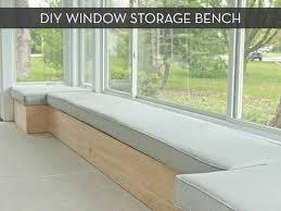make it custom diy window bench with storage window benches